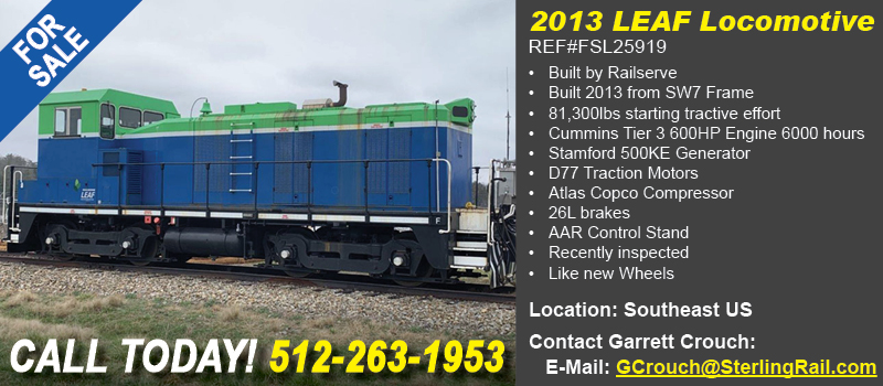 Sterling Rail Daily Express Featured Ad Banner