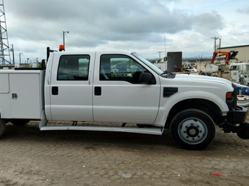 Ford F  Hi Rail Pick Up   V Speed Manual Transmission X  Foot Utility Bed Electric Over Hydraulic Hi Rail