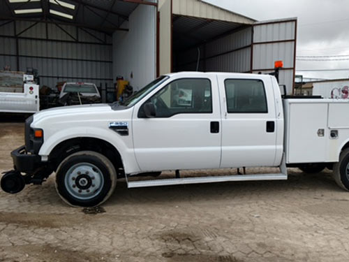 Ford F  Hi Rail Pick Up   V Speed Manual Transmission X  Foot Utility Bed Electric Over Hydraulic Hi Rail Really Nice